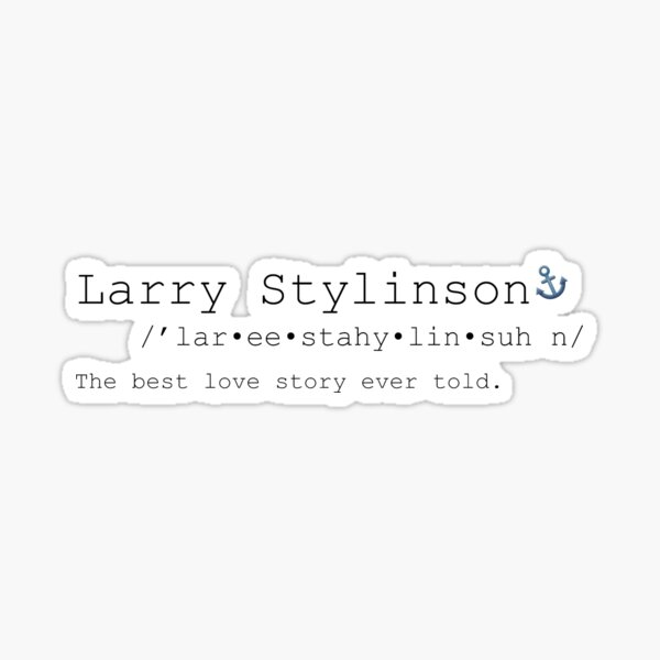 Larry Stylinson - Significado Pegatina