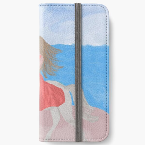Girly Beach Horseback Riding By Loure Bussey iPhone Wallet