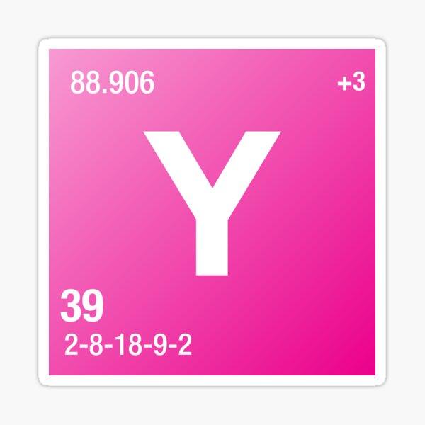 Element Yttrium Sticker