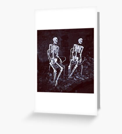 Skeletons Greeting Card