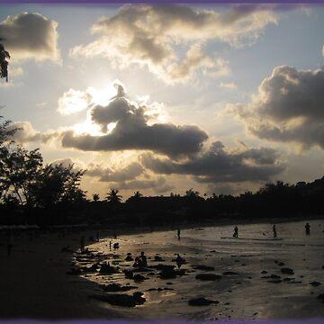 silver beach sunset by DAdeSimone