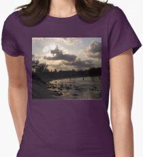 silver beach sunset Womens Fitted T-Shirt