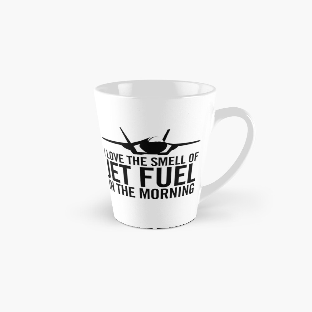 "F-35 Lightning II ""I love the smell of jet fuel in the morning"" Mug"