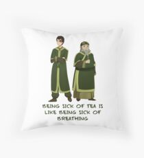 Zuko and Iroh Tea Shop with Qoute Throw Pillow