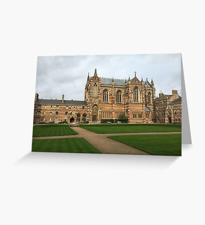 Keble College, Oxford Greeting Card