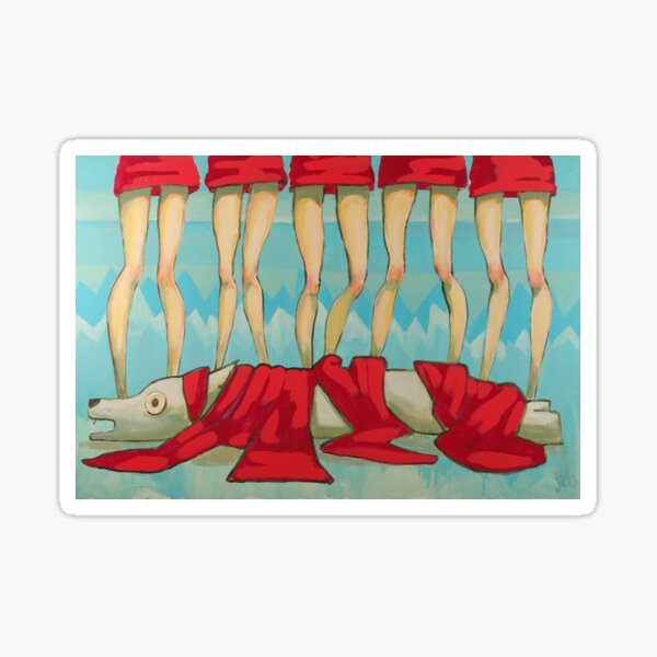 5 Little Reds II Sticker
