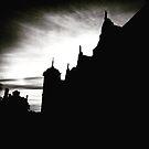 Castle silhouette by Robert Steadman