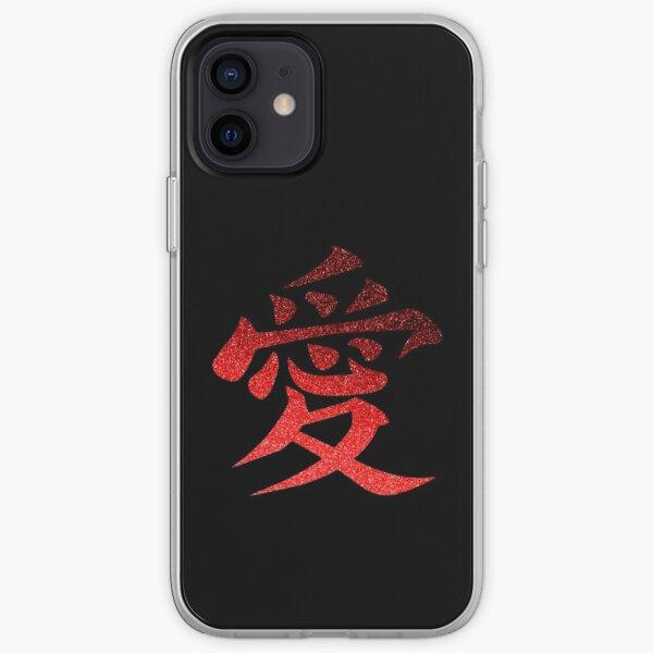 Symbole d'amour Coque souple iPhone