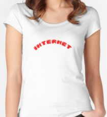 INTERNET Women's Fitted Scoop T-Shirt