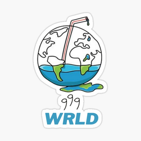 999 WRLD Sticker