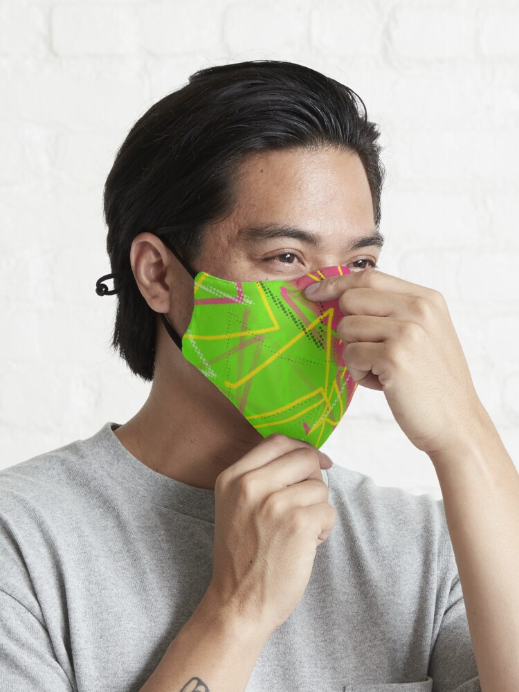 Alternate view of Neon 80's Vibes Mask
