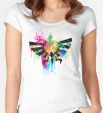 Hylian Paint Splatter Women's Fitted Scoop T-Shirt