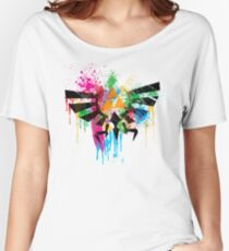 Hylian Paint Splatter Women's Relaxed Fit T-Shirt