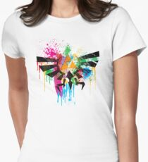 Hylian Paint Splatter Women's Fitted T-Shirt