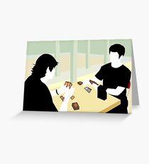 Playing Magic: the Gathering Trading Card Game Greeting Card