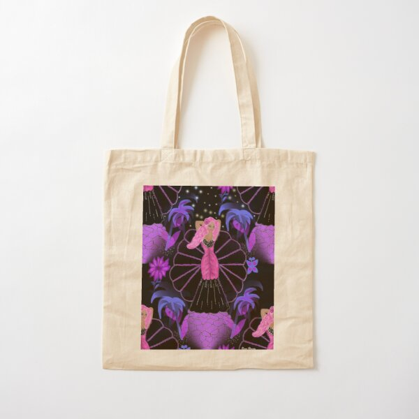 Pink Haired Lady By Loure Bussey Cotton Tote Bag