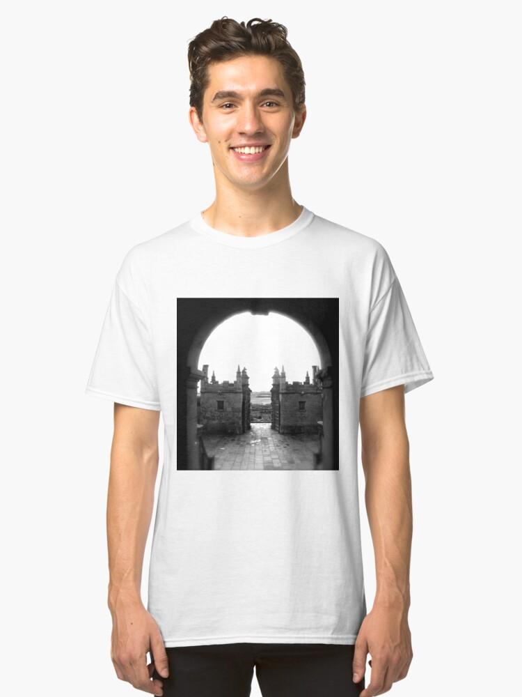 Alternate view of Little Castle entrance, Bolsover Classic T-Shirt