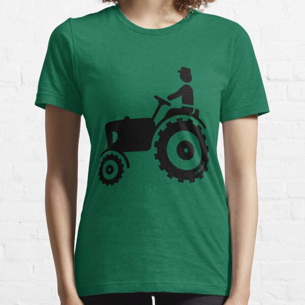 Farmer With Tractor Essential T-Shirt