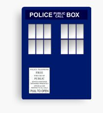 Police Box New Blue Canvas Print