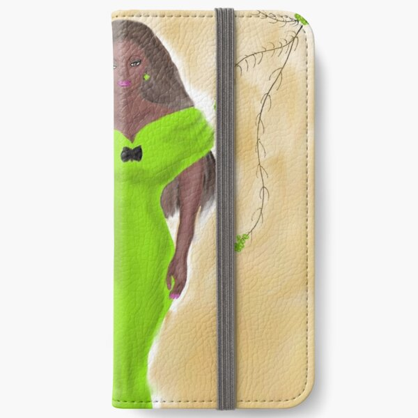 Stunner In Green By Loure Bussey iPhone Wallet