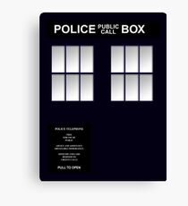 Police Box Classic Blue Canvas Print