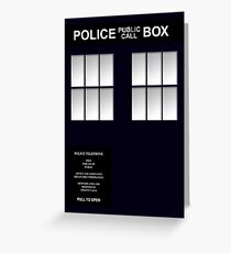 Police Box Classic Blue Greeting Card