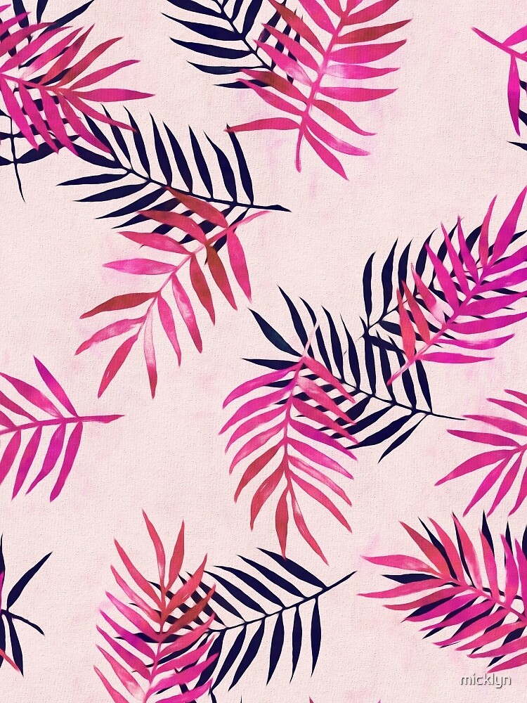 Pink palm pattern by micklyn redbubble for Print wallpaper designs