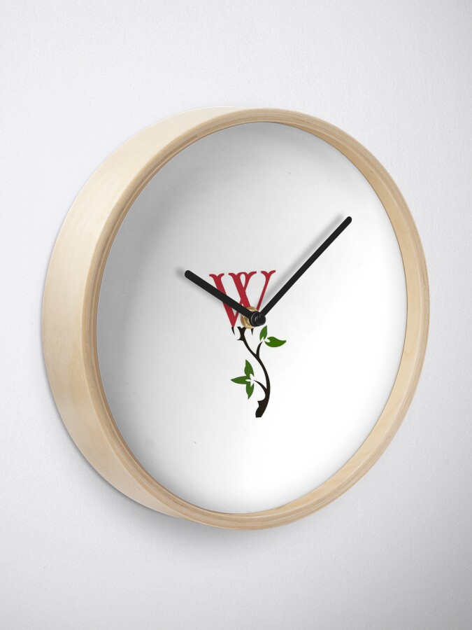 Alternate view of Wrongdoing Magazine Logo Collection Clock