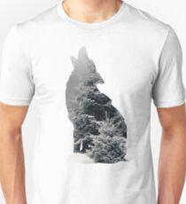 Wolf Silhouette Print Unisex T-Shirt