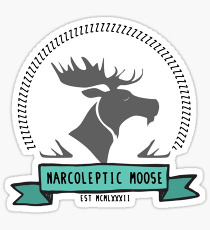 Narcoleptic Moose Sticker