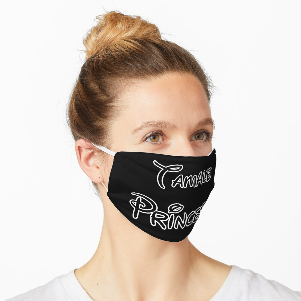 Tamale Princess - Black Letters Mask