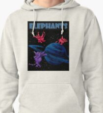 d9069f3ca Space Elephants Over Saturn Pullover Hoodie