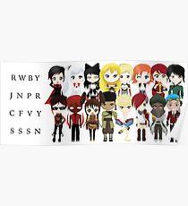 Chibi Team RWBY, JNPR, CFVY & SSSN Poster