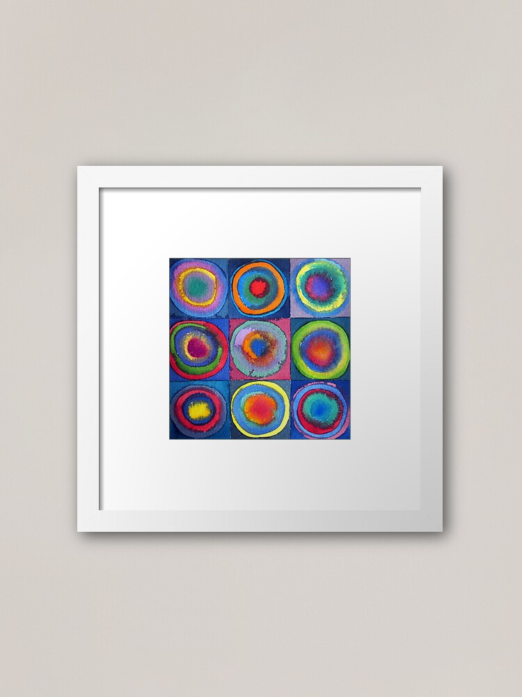 Alternate view of Circles - abstract watercolour by Francesca Whetnall Framed Art Print
