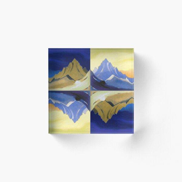 Fantasy on the Himalayas (Sonata overhead paint) Nicholas Roerich Painting Acrylic Block