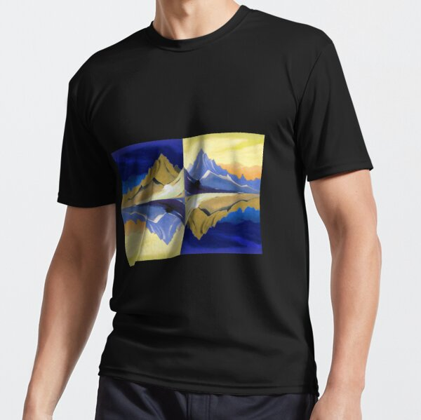 Fantasy on the Himalayas (Sonata overhead paint) Nicholas Roerich Painting Active T-Shirt