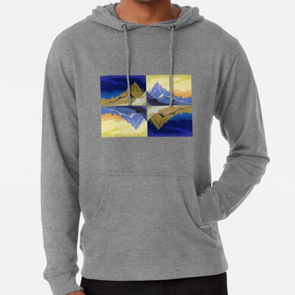 Fantasy on the Himalayas (Sonata overhead paint) Nicholas Roerich Painting Lightweight Hoodie