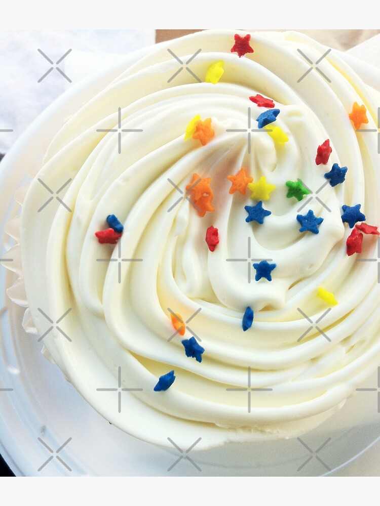 Vanilla Stars and Swirls - Cupcake Lovers - Gift for Baker - Food Blogger Present by OneDayArt