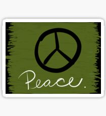 Peace - Peace Sign and Typography Art - Gift for Activist Sticker