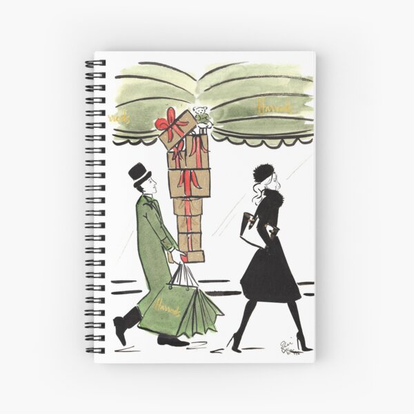 Christmas Shopping at Harrods Spiral Notebook