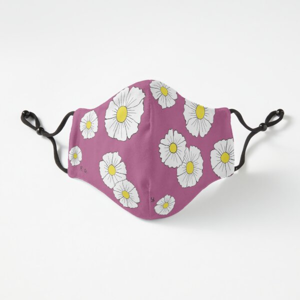 Pink Floral Print Mask  Fitted 3-Layer