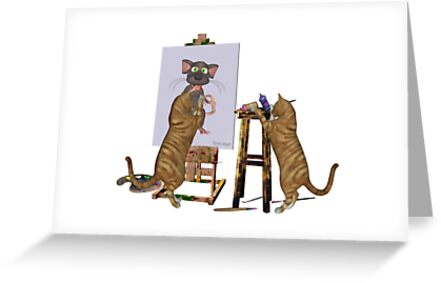 Artists at Work .. March Cats by LoneAngel