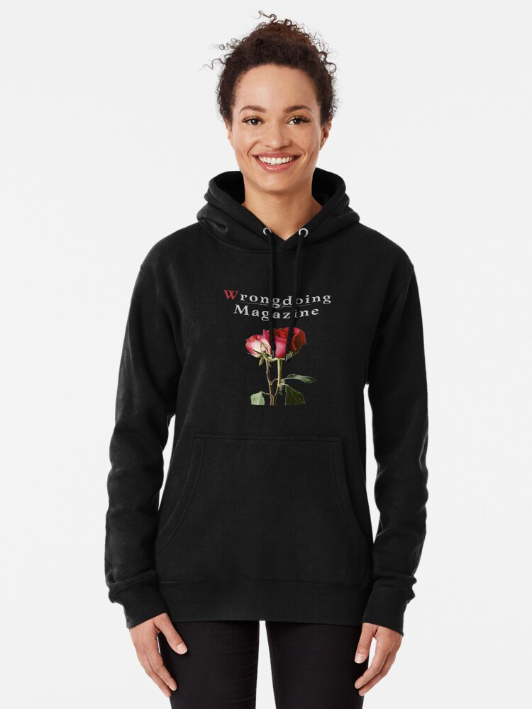Alternate view of Wrongdoing Magazine Real Rose Collection Pullover Hoodie