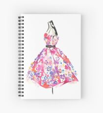 Floral Dress - Watercolor Fashion Illustration  Spiral Notebook