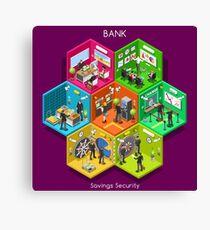 Bank 01 Cells Isometric Canvas Print