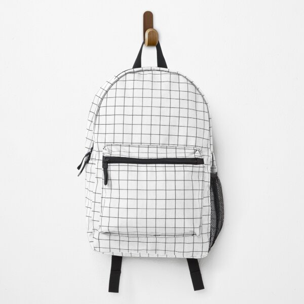 aesthetic grid black and white Backpack