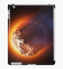 Burning asteroid entering the atmoshere iPad Case/Skin