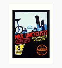 MKE Unicyclists Art Print