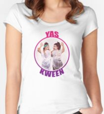 BROAD CITY YAS KWEEN Women's Fitted Scoop T-Shirt
