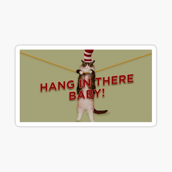 Hang in there baby! Sticker
